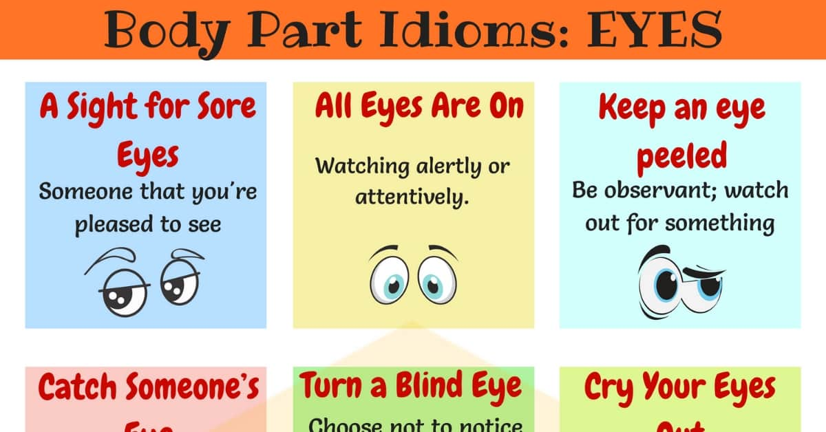 EYE Idioms: 25+ Useful Expressions & Idioms with EYES 1