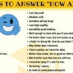 "How to Answer ""HOW ARE YOU?"" in English"