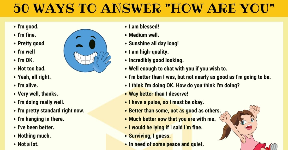 "How to Answer ""HOW ARE YOU?"" in English 1"
