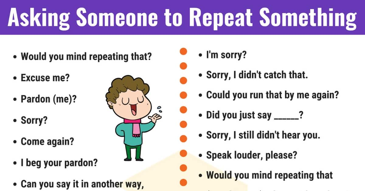 How to Ask Someone to Repeat Something in English 1