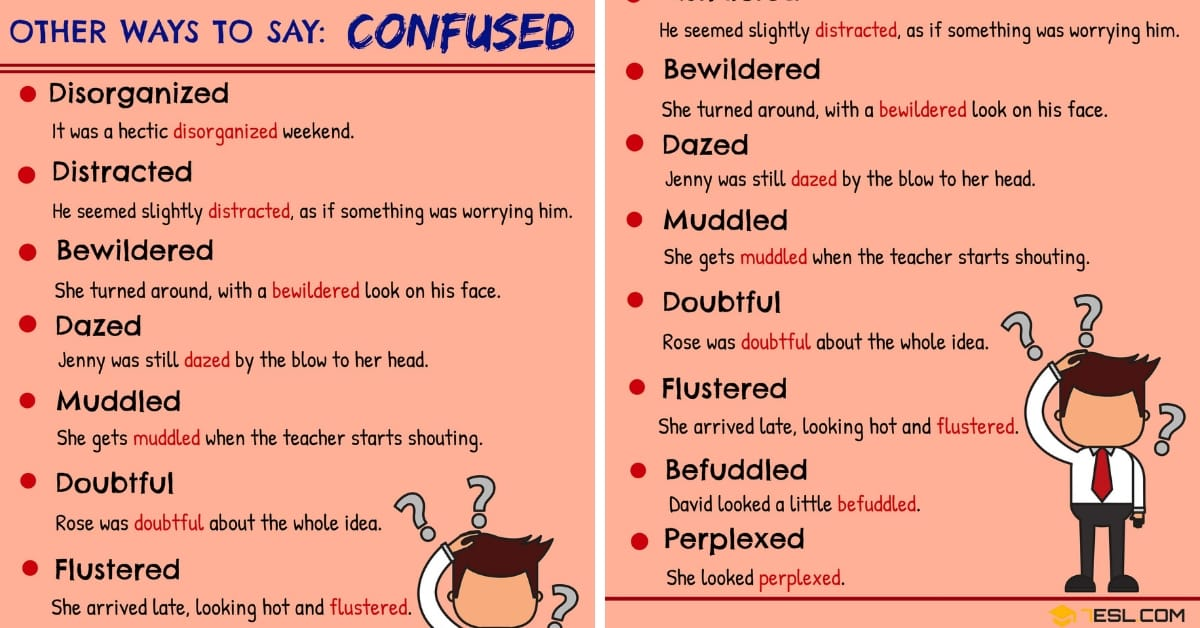 CONFUSED Synonym: 10 Synonyms for Confused in English 1