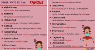 FAMOUS Synonyms: 12 Synonyms for FAMOUS in English