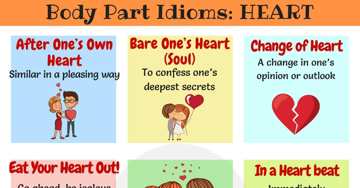 HEART Idioms: Useful Heart Idioms & Sayings in English 8