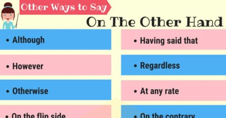 """Different Ways to Say """"On The Other Hand"""" 12"""