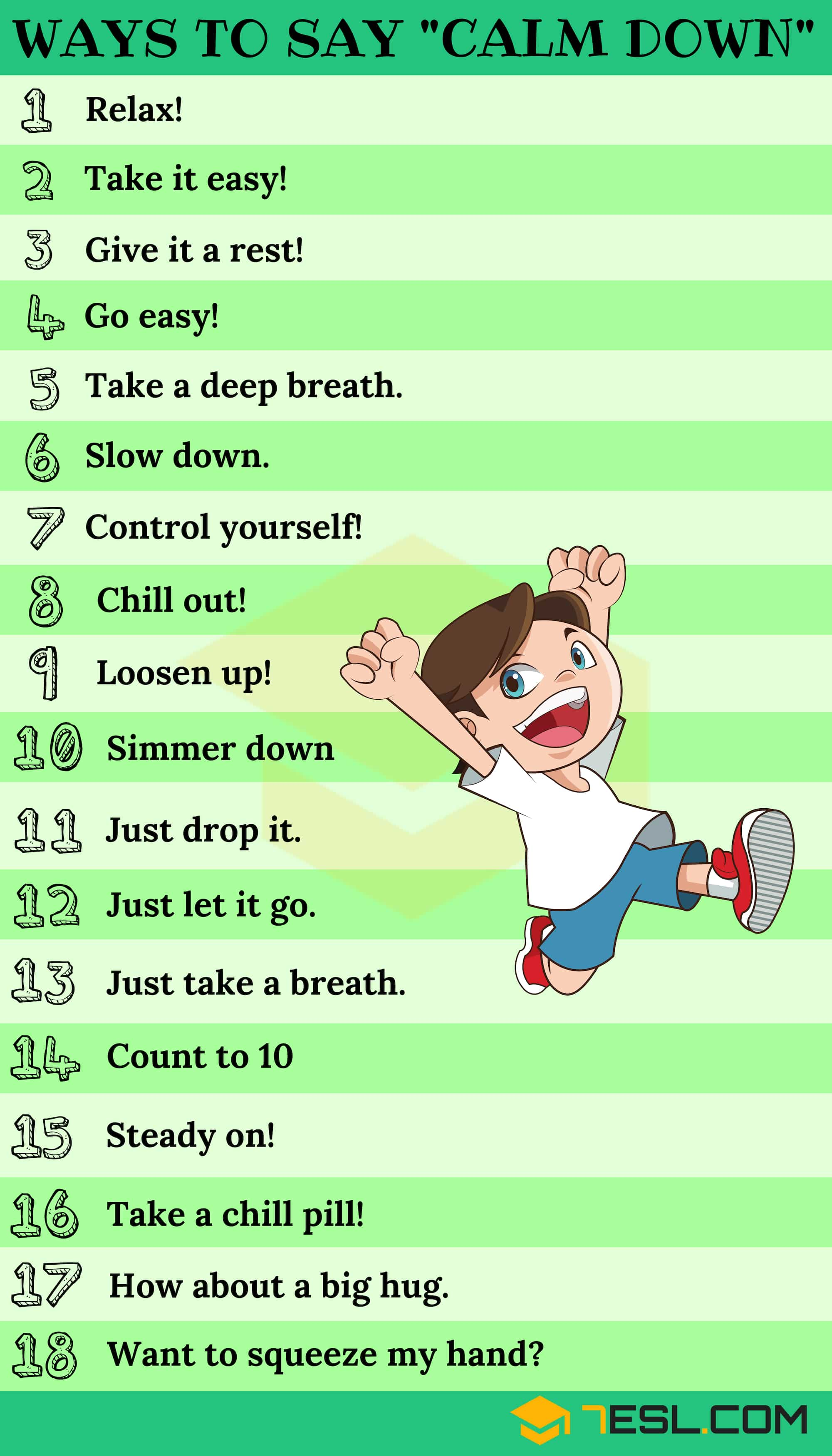 Calm Down Synonym: 25+ Ways To Say CALM DOWN