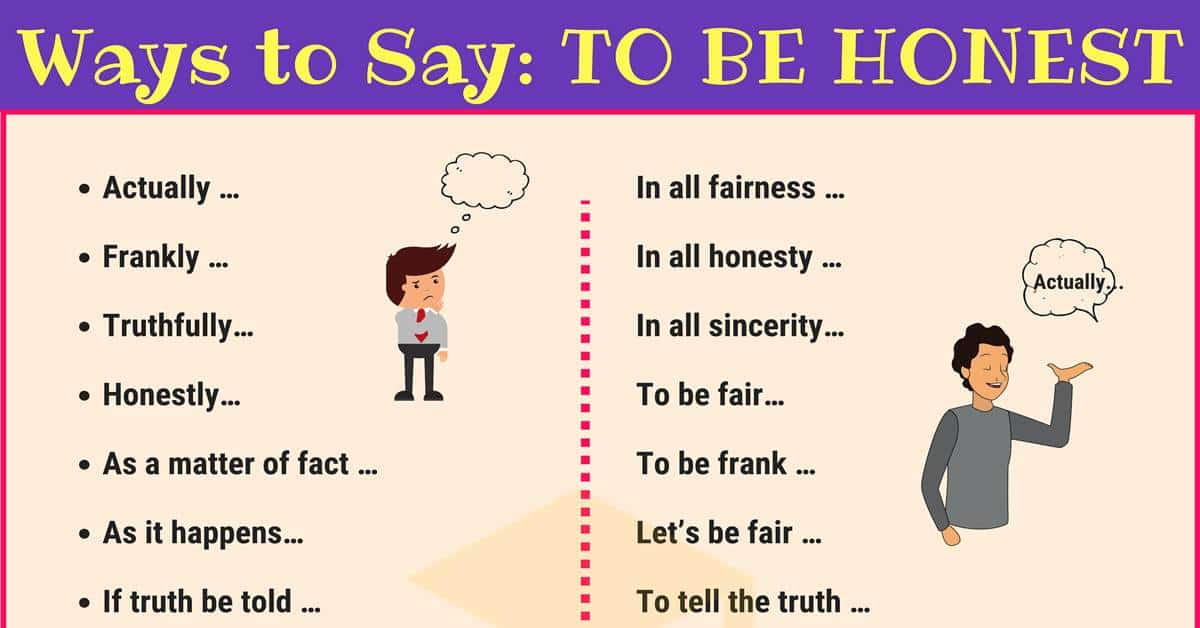 "Other Ways to Say ""To be Honest"" in English 4"
