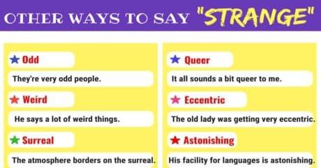 STRANGE Synonyms: 14 Other Words for STRANGE 1