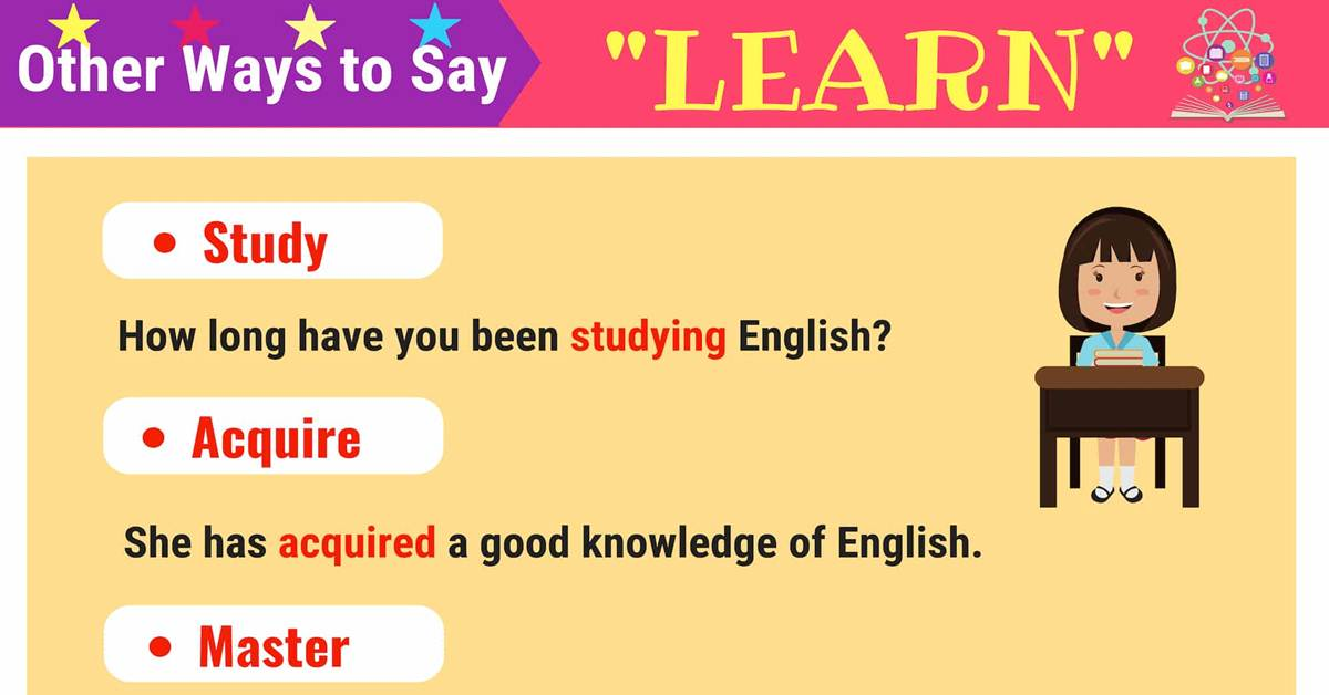 Synonyms for LEARN in English | Learn Synonyms 1