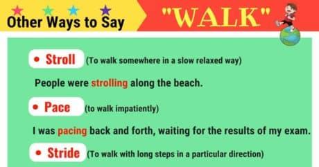 WALK Synonyms: 21 Synonyms for WALK in English 9