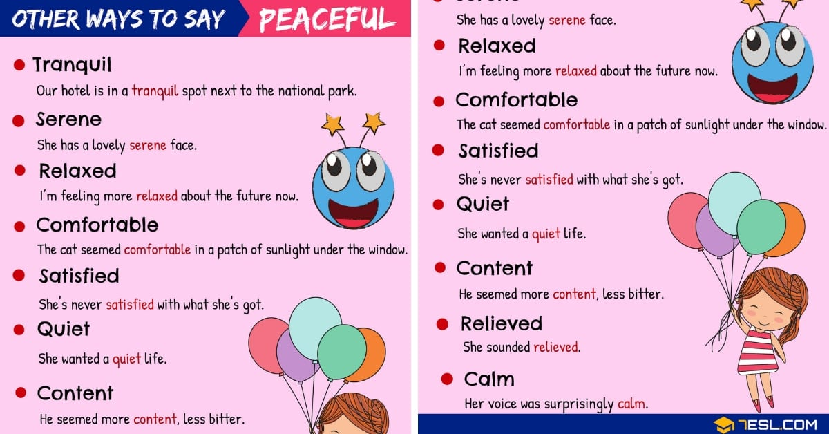 "Another Word for ""Peaceful"" 