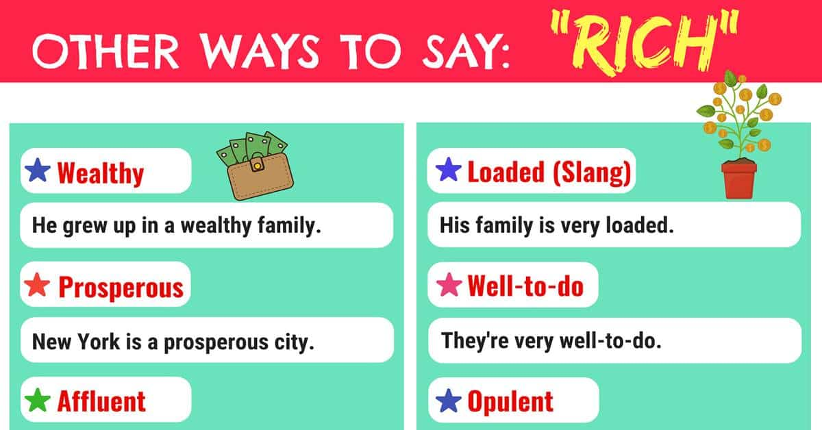 RICH Synonyms: 14 Synonyms for RICH in English 1