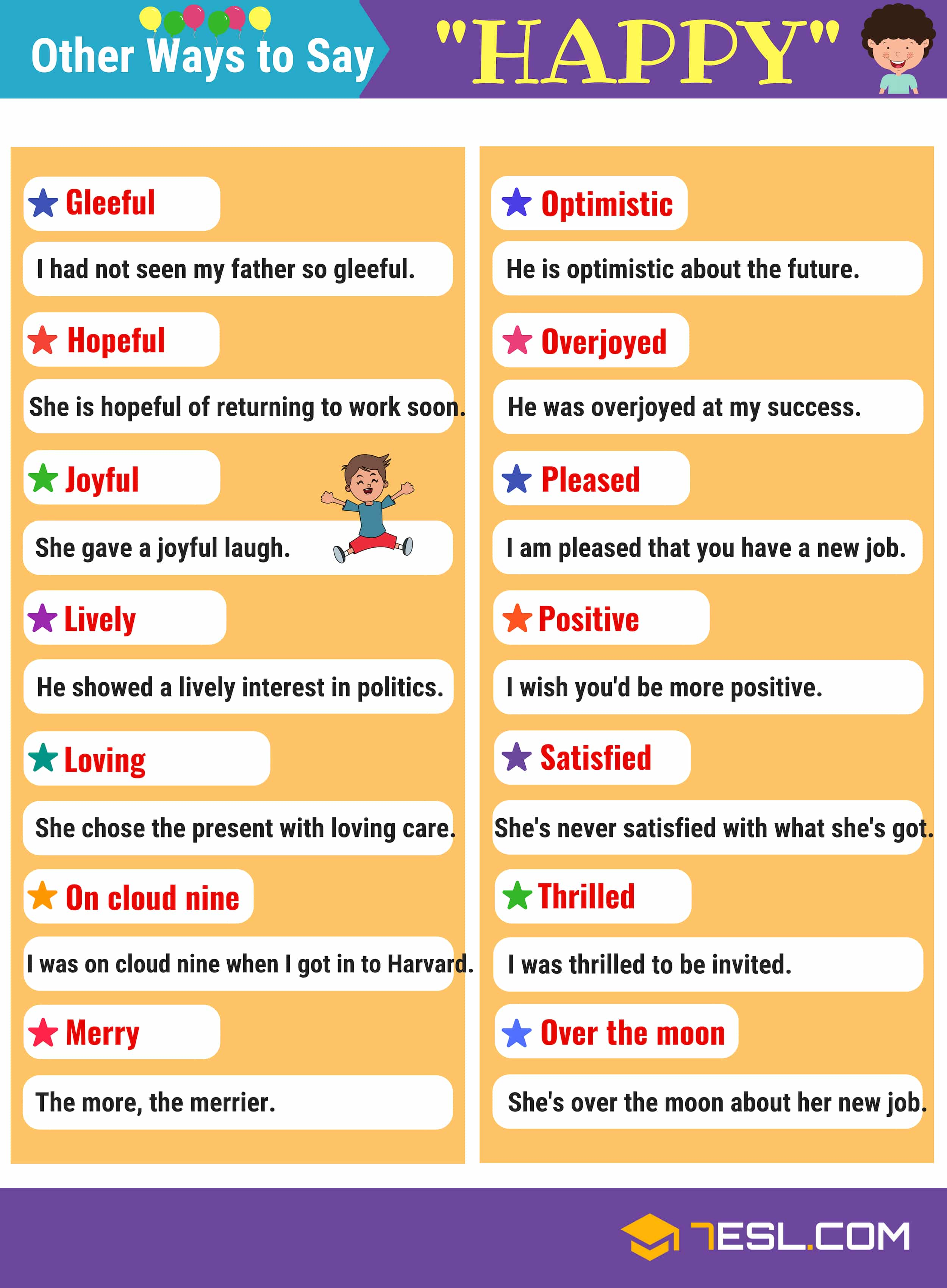 Happy Synonyms 105 Synonyms For Happy In English 7esl Found 6 synonyms in 1 groups. happy synonyms 105 synonyms for happy