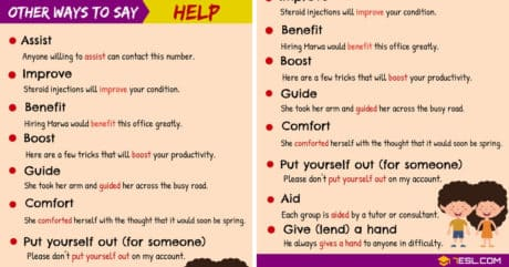 HELP Synonyms: 10 Useful Synonyms for HELP 10