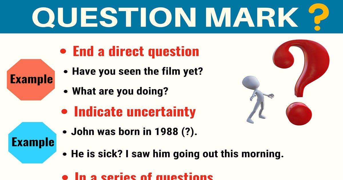 (?) Question Mark: How to Use Question Marks with Examples 1