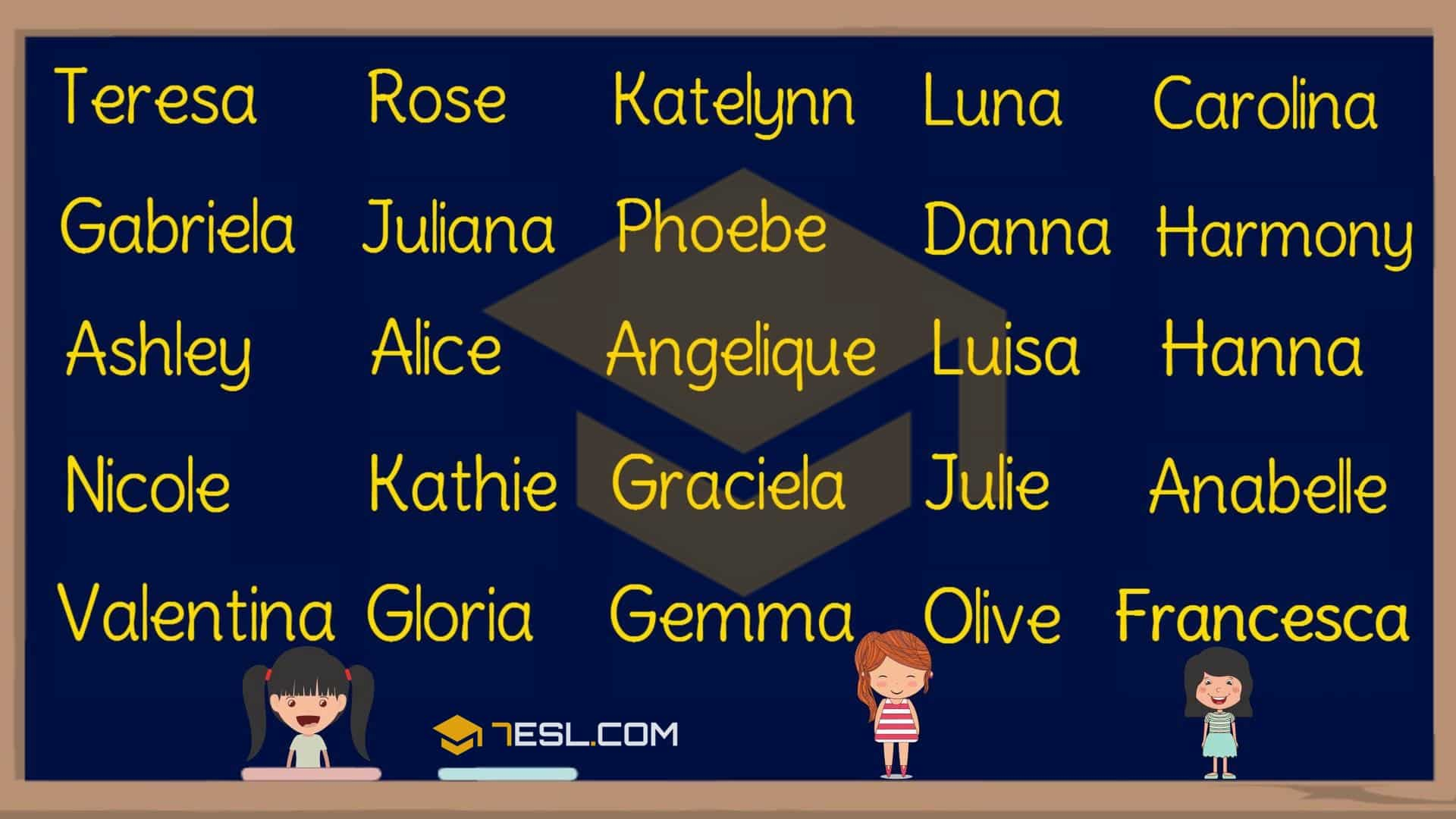 Names for girls in English