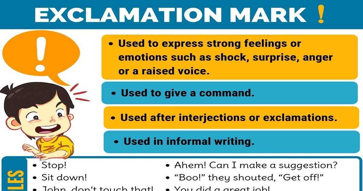 (!) Exclamation Mark/ Exclamation Point with Useful Examples 1