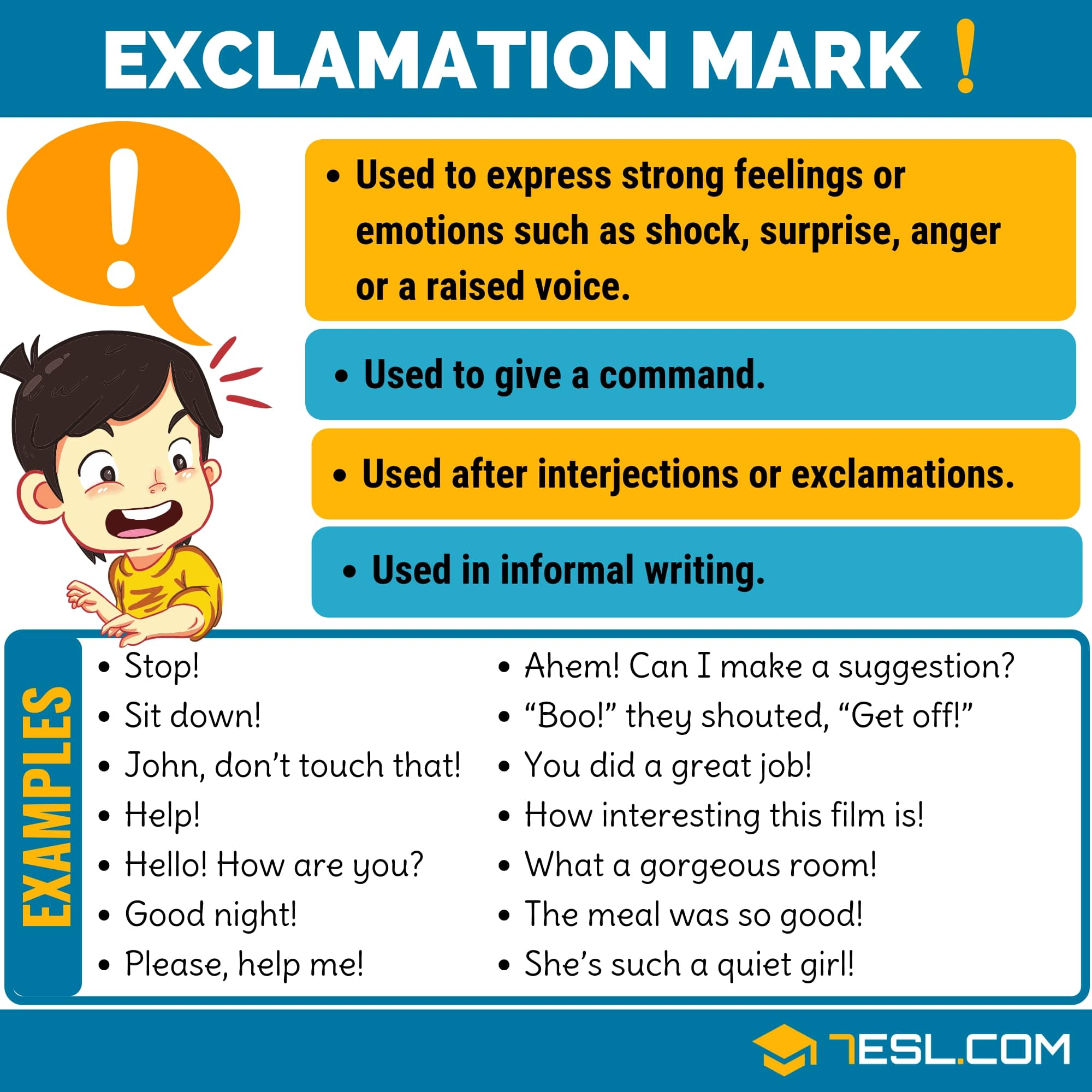 (!) Exclamation Mark/ Exclamation Point with Useful Examples