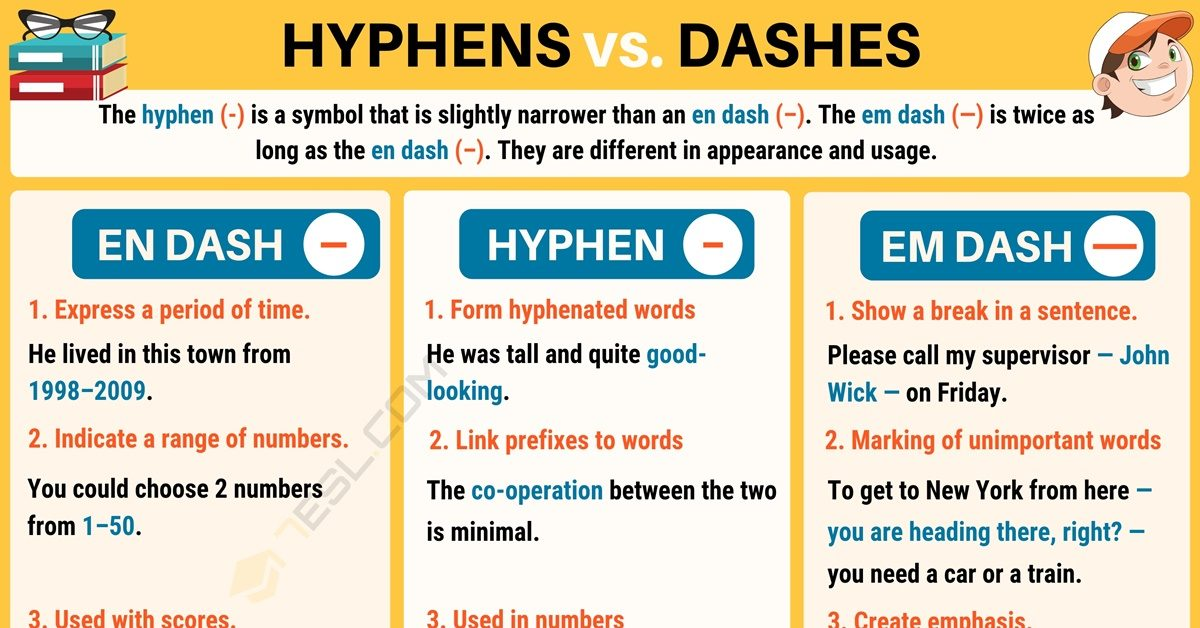 Hyphen (-) When to Use a Hyphen in English 1