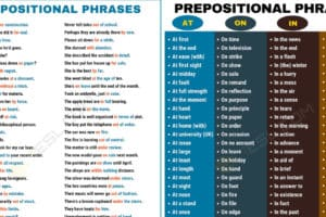 600+ Useful Prepositional Phrase Examples in English 11