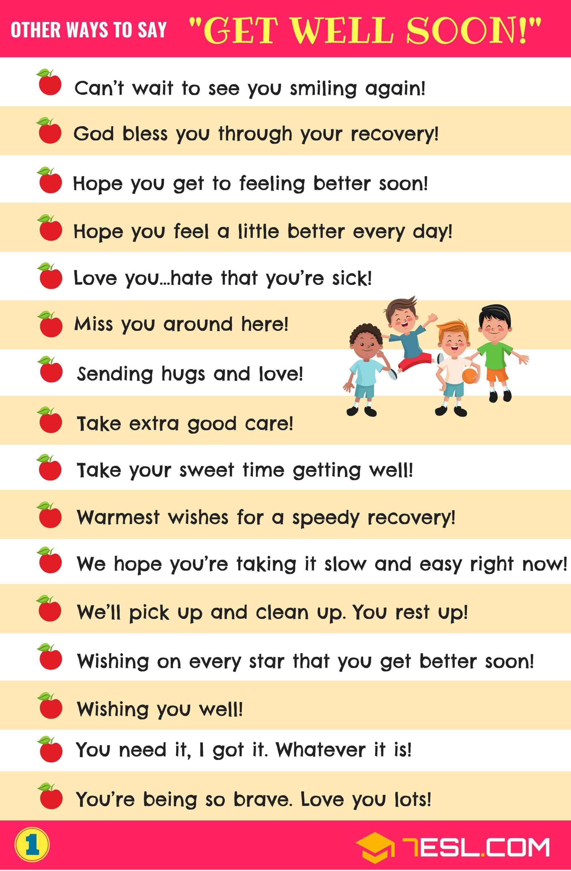 Get Well Wishes 33 Useful Get Well Soon Messages With Images 7esl