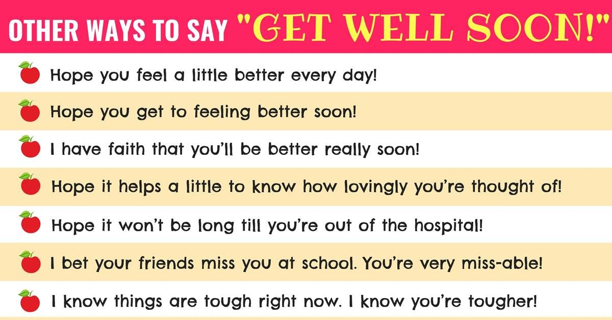 Get Well Wishes: 33 Useful Get Well Soon Messages with Images 1