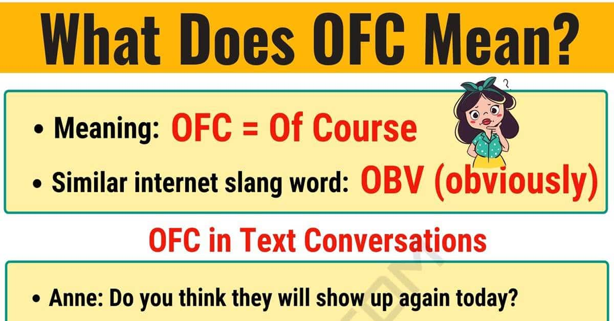 OFC Meaning: What Does OFC Mean? Useful Text Conversations 1