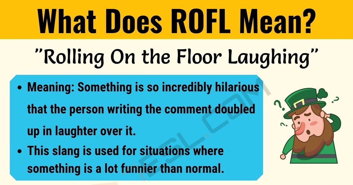 ROFL Meaning: What Does ROFL Mean? (with Cool Text Conversations) 1