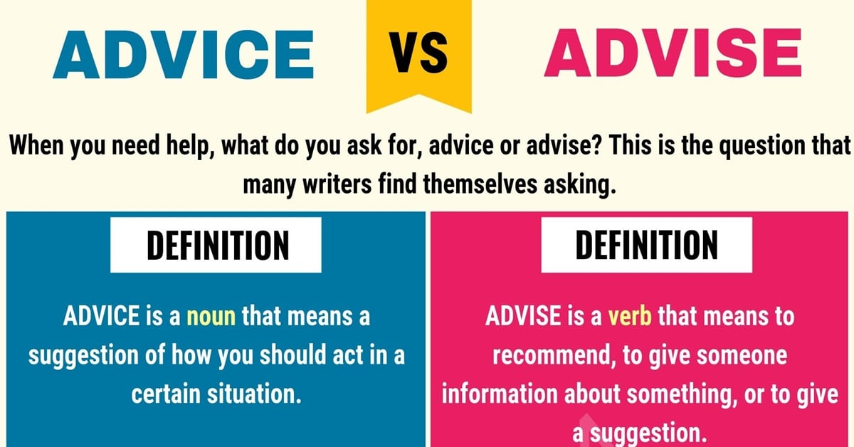 Advice vs. Advise