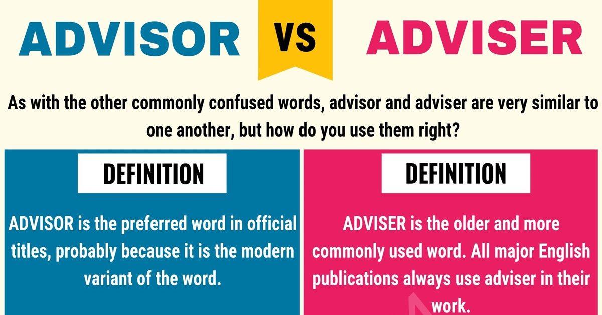 Advisor vs Adviser