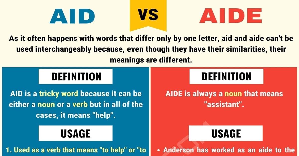 Aid vs. Aide