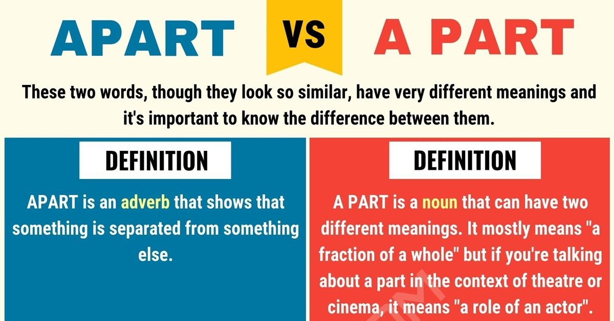 APART vs A PART: When to Use Apart vs A Part with Useful