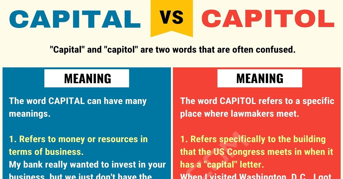 capital vs capitol  how to use capitol vs capital in