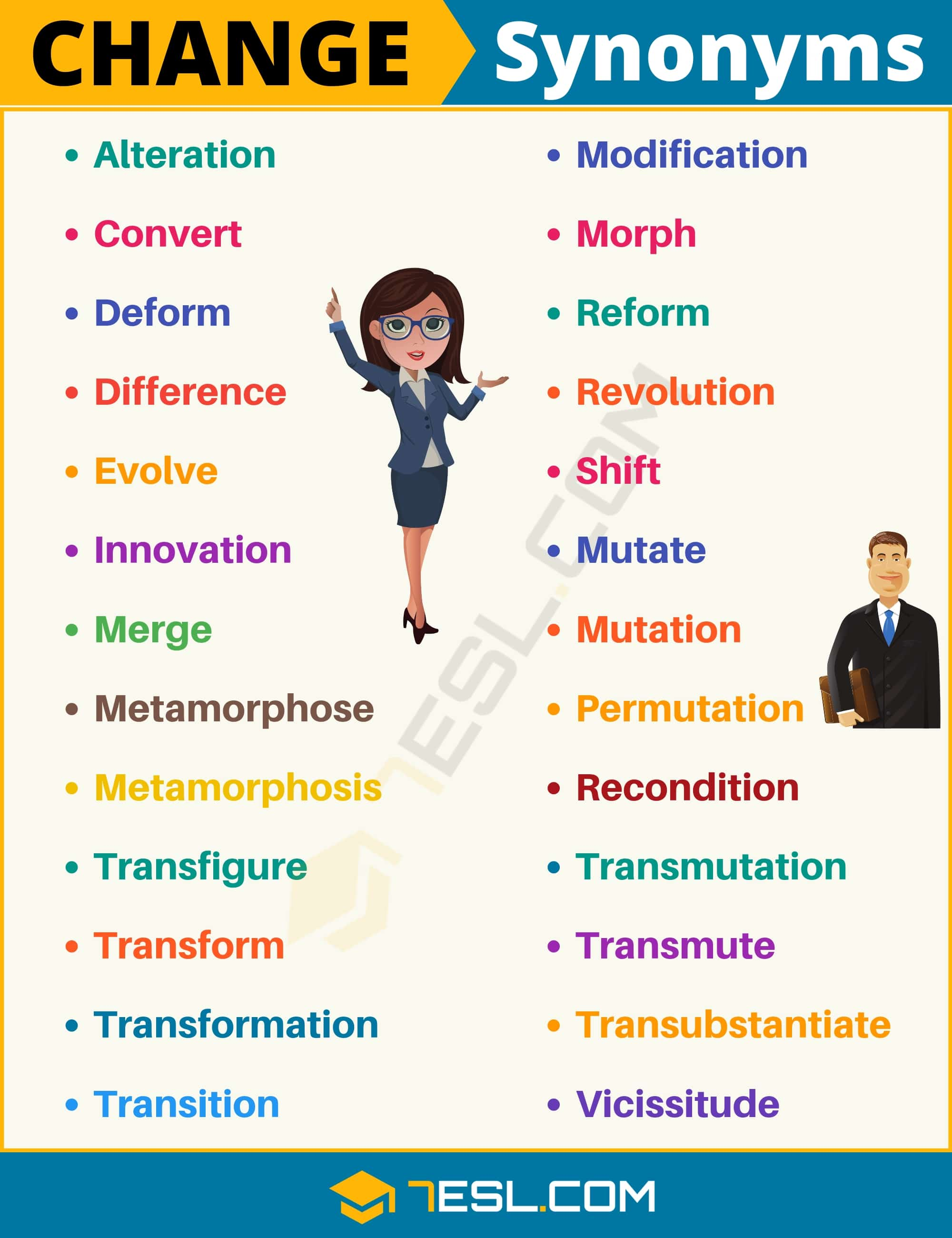 CHANGE Synonym: List of 26 Synonyms for Change with Useful Examples