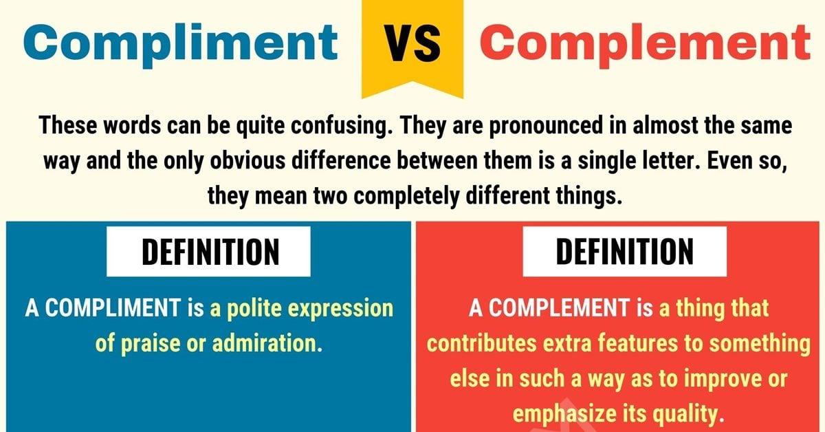 Compliment vs Complement