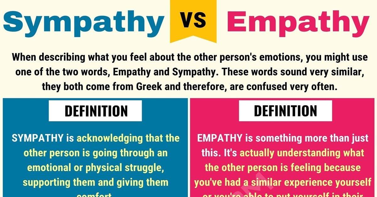 Empathy vs Sympathy