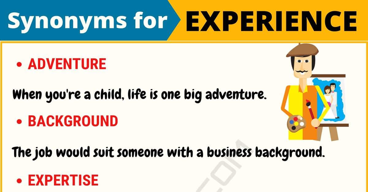 """Another Word for """"Experience"""" 