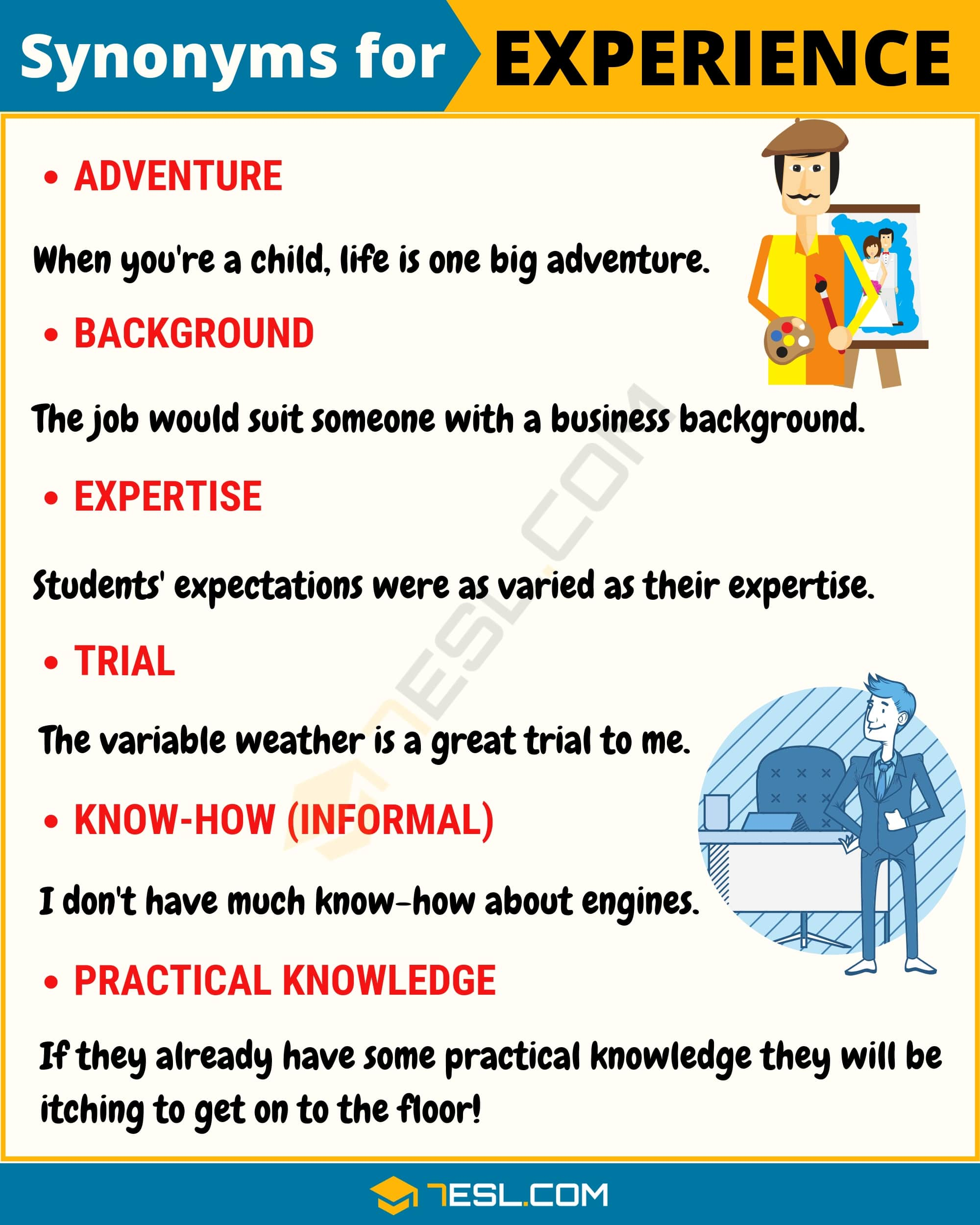 Synonyms for Experience with Example | Image