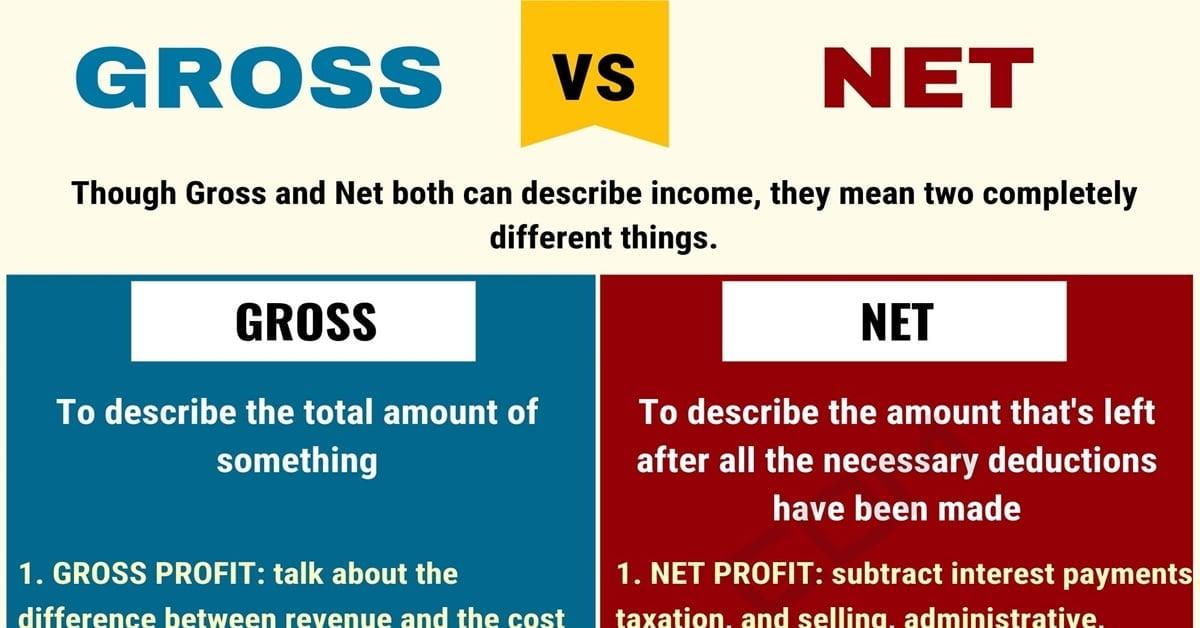 GROSS vs. NET