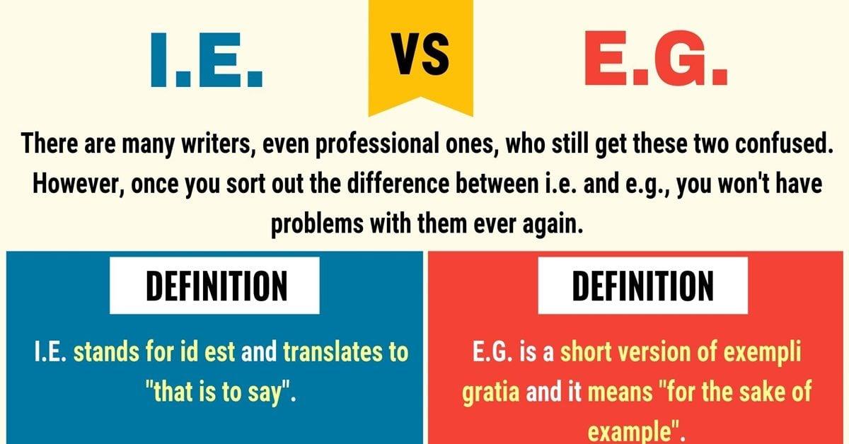 I.e. vs E.g.
