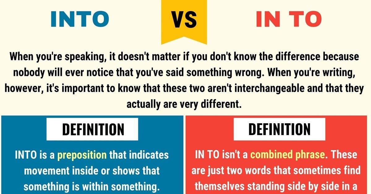 Into vs. In to