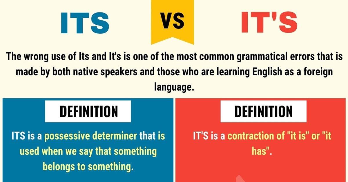 ITS vs IT'S