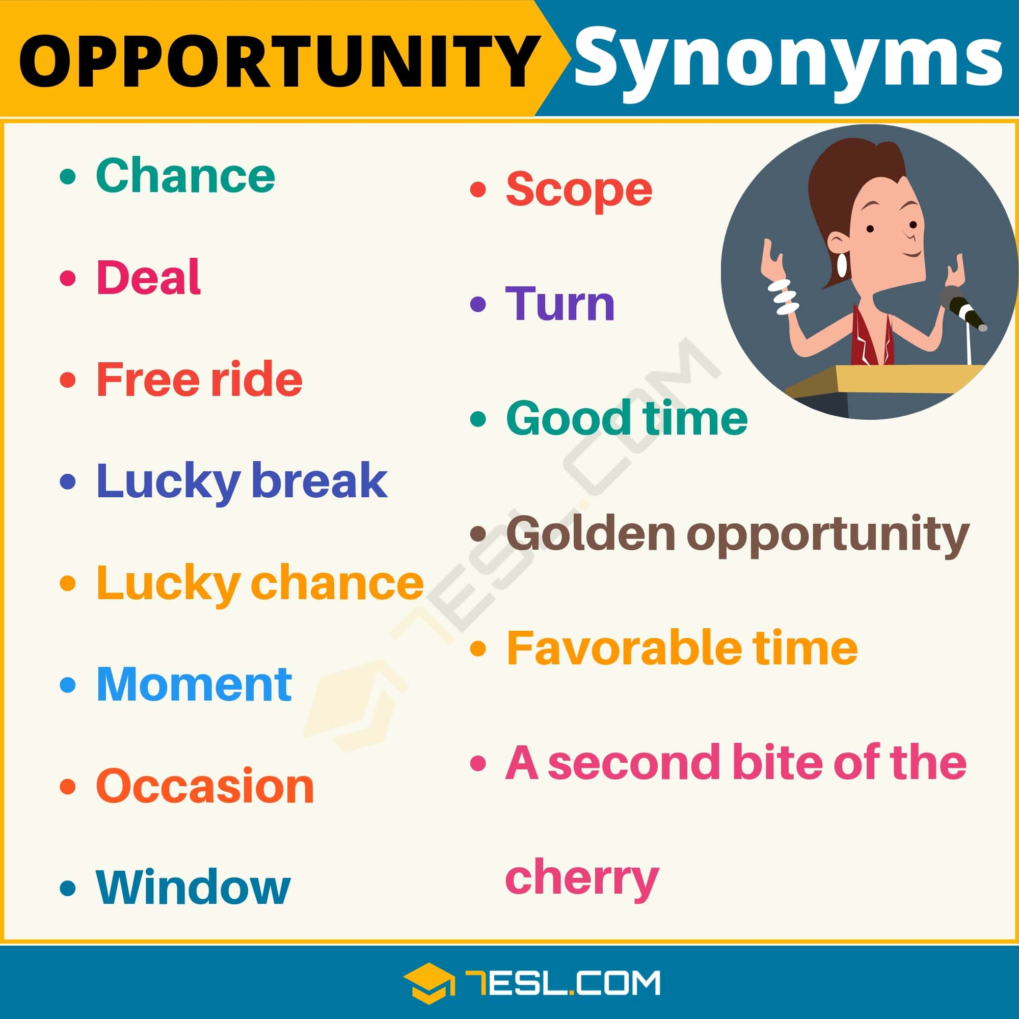 OPPORTUNITY Synonym: List of 14 Synonyms for Opportunity in English