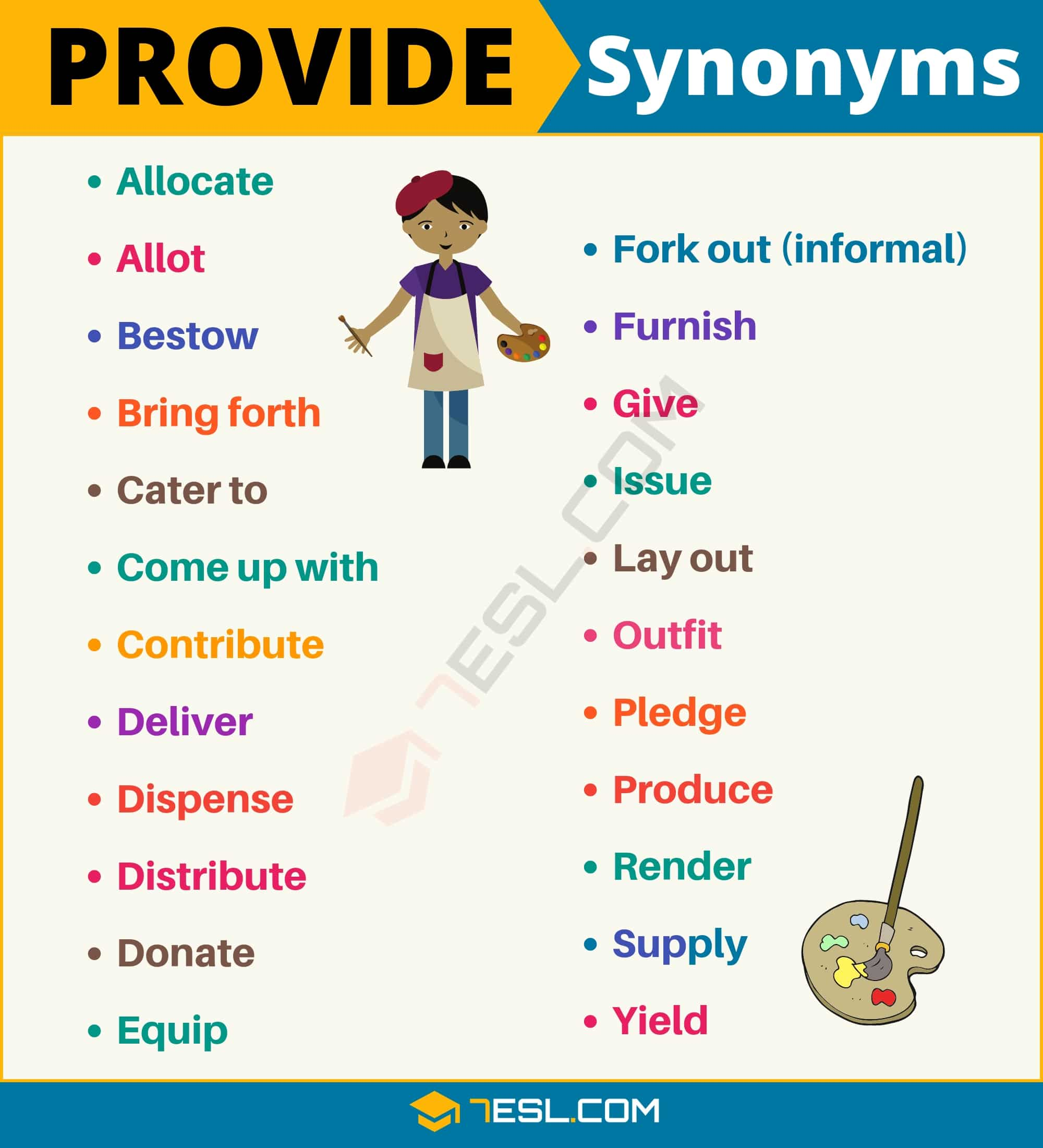 PROVIDE Synonym: List of 23 Synonyms for Provide in English