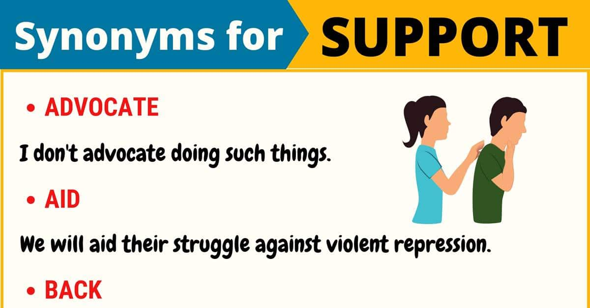 """Another Word for """"Support"""" 