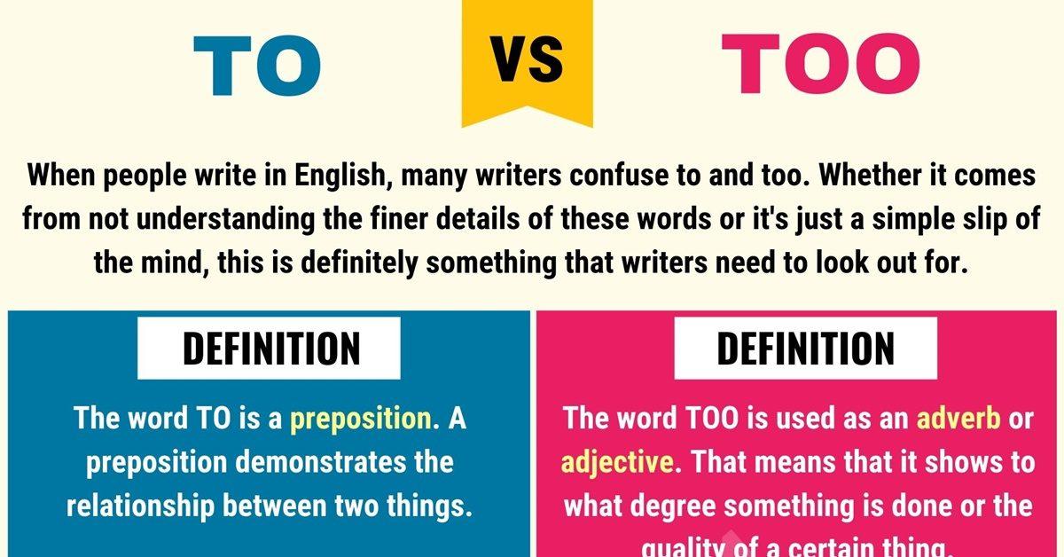 To vs Too