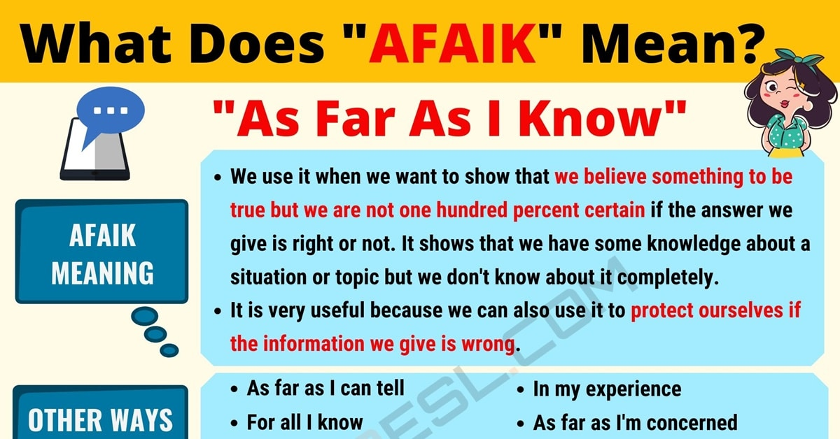 AFAIK Meaning: What Does AFAIK Mean? Useful Text Conversations 1