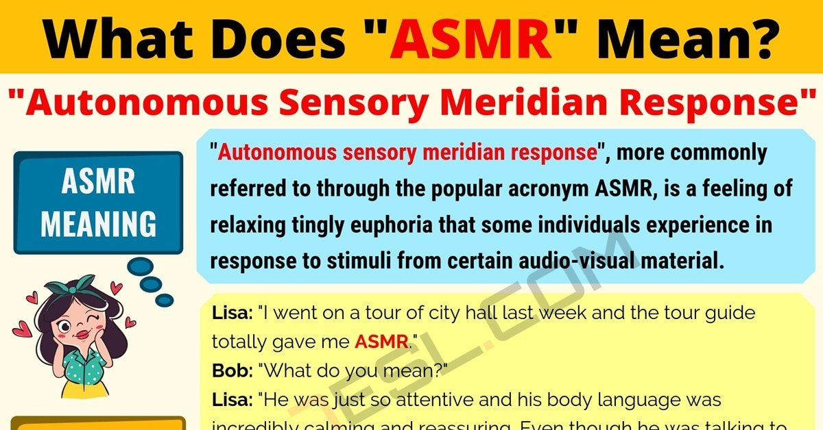 """ASMR"" Meaning 