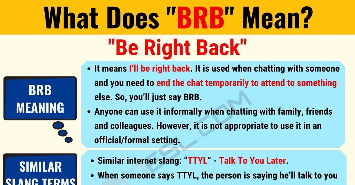 BRB Meaning: What Does BRB Mean? Useful Text Conversations 1