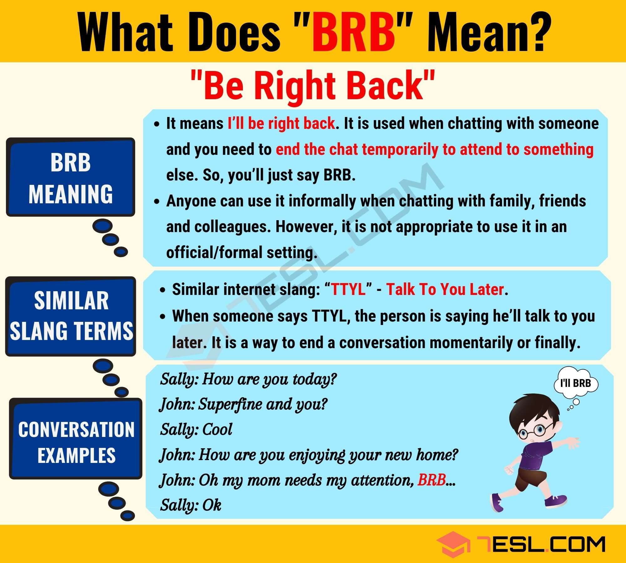 BRB Meaning: What Does BRB Mean? Useful Text Conversations 2