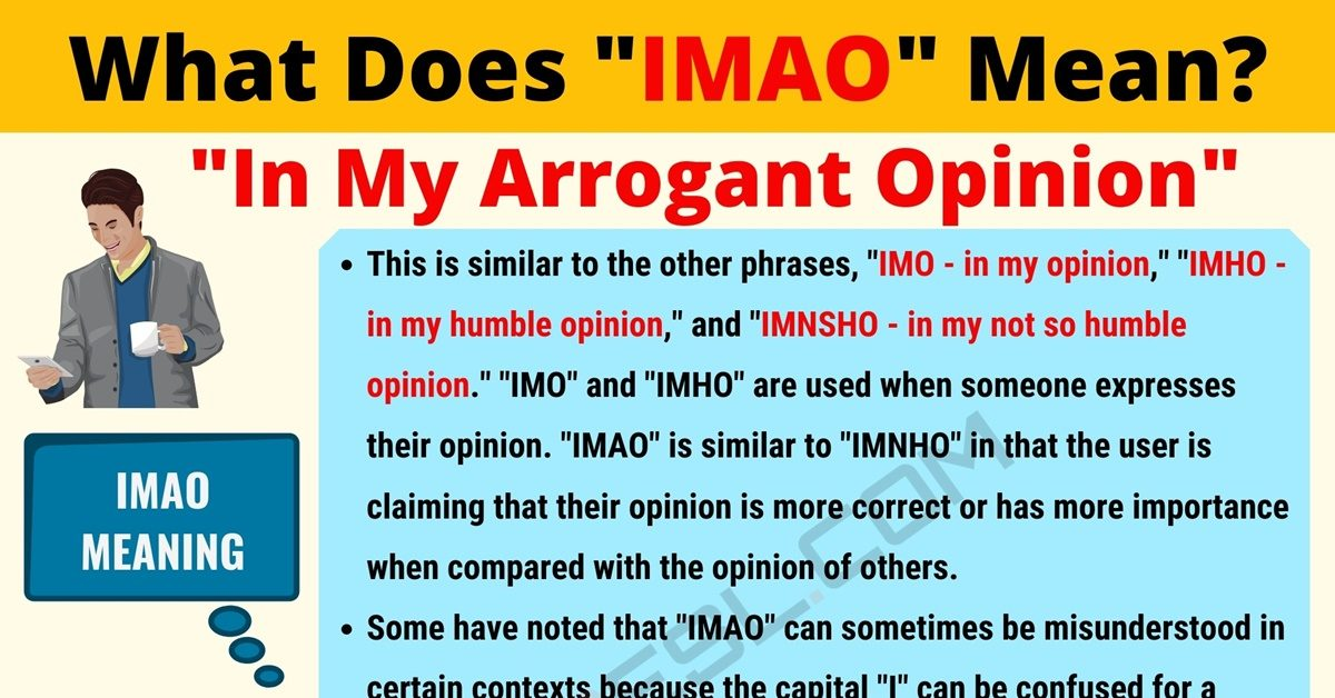 IMAO Meaning: What Does IMAO Mean? Useful Text Conversations 1